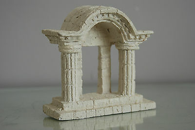 Aquarium Temple Grec Ruine Arch Porche Décoration 13 x 5 x 12 cms