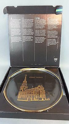 Vtg 1976 Orrefors Famous Places of Worship Christ Church Plate Sweden W/ Box