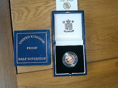 1997 Gold Proof Half Sovereign Box & certificate