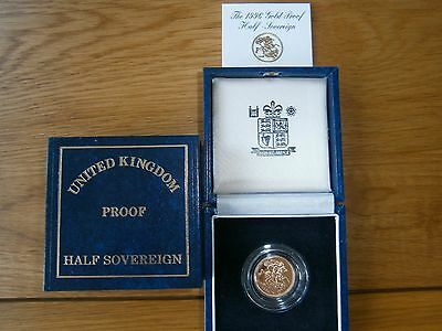 1996 Gold Proof Half Sovereign Box & certificate