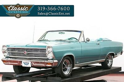 1966 Ford Fairlane Original color and trim on this solid fun driver Convertible with bucket seats, console, power top, and power steering very clean
