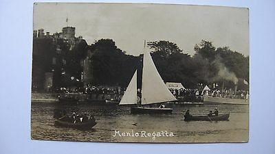 Old vintage Postcard  Menlo Regatta Galway posted 8/09/10 Constable Witney RIC