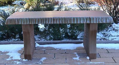 "Mold Concrete Top Bench Long 40"" Cover Cement Benches Top Only #b03"