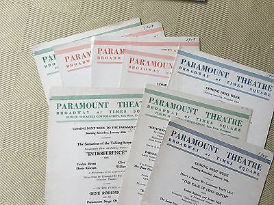 RARE 1928-29 NY Paramount Theatre Silent and Talking Pictures Flyers
