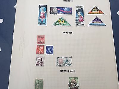 Azerbaidjan Ukraine assortment of stamps from multiple collectors on pages