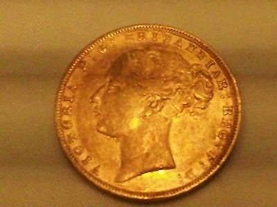 Full Gold Sovereign 1876 Shipwreck R.M.S. Douro uncirculated