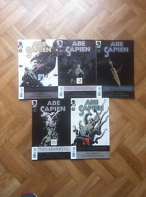 Abe Sapien The Drowning 1  To 5 Complete Set Mignola Very Fine/near Mint (W4)