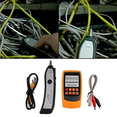 Cable Tester Tracker Phone Line Network Finder RJ11 RJ45 Wire Tracer FG