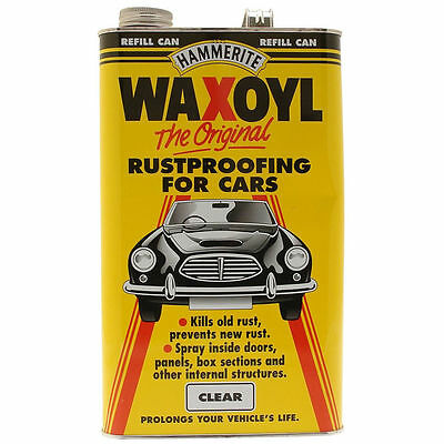 Hammerite  5 Litre Waxoyl Clear Refill Can Rust Protection- Free Postage 5L