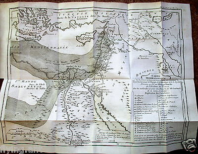 1751 Carte Mineralogique, Egypt, Palestine and Syria. Buache Geology Map