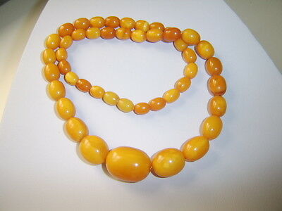 Bernsteinkette Oliven Butterscotch Amber Necklace Baltic Amber 36gramm