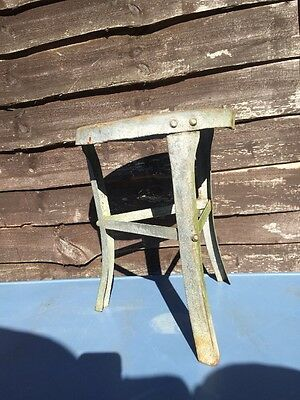 Vintage Metal Industrial Farm Milking Stool Seat Chair