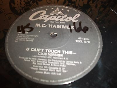"""12"""" Vinyl Record/ M.c. Hammer - U Can't Touch This : Vg+"""