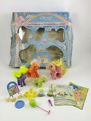 Vintage 1985 Hasbro My Little Pony Party Gift Pack in original box - G1