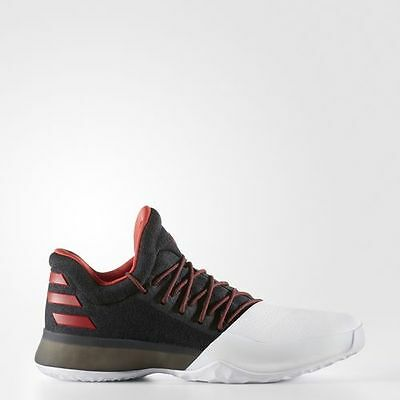 adidas James Harden Vol.1 Pioneer White Black Red Basketball Shoes JH13 BW0546