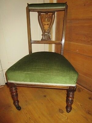 Beautiful Antique Inlaid Rosewood Chair