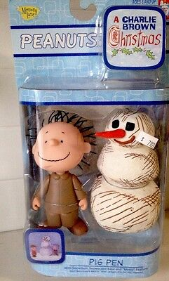 MEMORY LANE CHARLIE BROWN CHRISTMAS Pig Pen & Snowman FIGURE RARE #07715 NEW '03