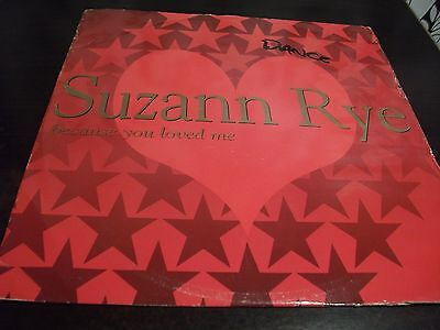 "12"" Vinyl Record/ Suzann Rye - Because You Loved Me : Vg+"