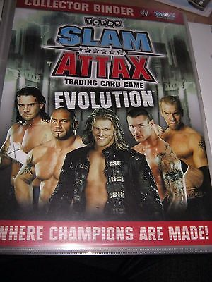 Topps Slam Attax - Trading Card Game - Evolution - Collector binder & 100 cards
