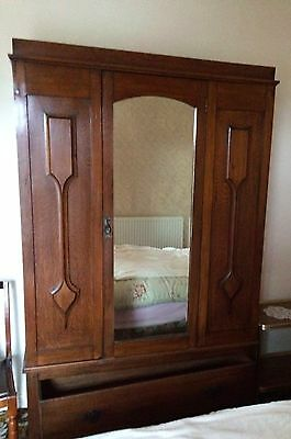 Vintage Wooden Wardrobe with one drawer