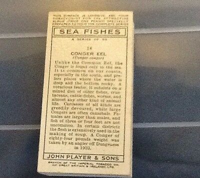 Playes Cigarette Cards Sea Fishes