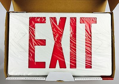 NEW NaviLite Thermoplastic LED Exit Sign NXPB3RWH Double/Single Sided Battery