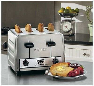 Waring Commercial Heavy Duty Stainless Steel 4 Slice Toaster