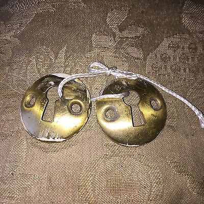 Vintage Brass Key Hole Salvage Covers Escutcheons