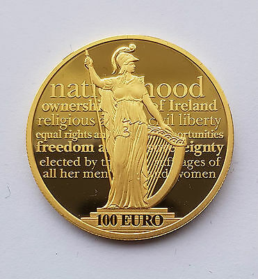 IRELAND 100 Euro 2016 GOLD Proclamation Irish Republic Coin 1000 Limited edition