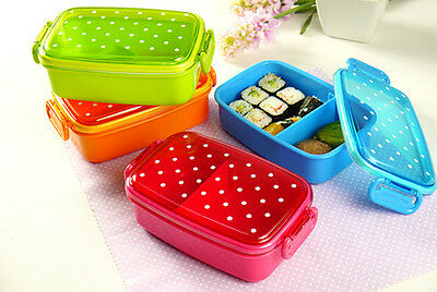 Children Cute Dot Bento Box Lunch Box pastry fruit sushi Food Container Storage
