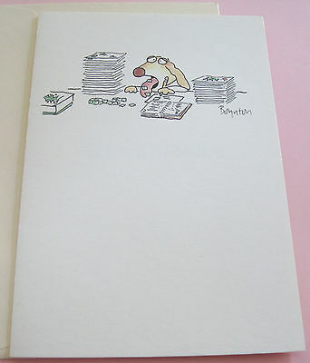 Unused Christmas Card Boynton Dog w Stamps Stuck to Tongue Melly Clithmuth!
