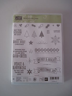 Stampin' Up! Stitched with Cheer Christmas Photopolymer Stamps Set BRAND NEW