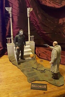"Halloween ""The Night He Came Home"" Scene NECA Michael Myers / Dr. Loomis"