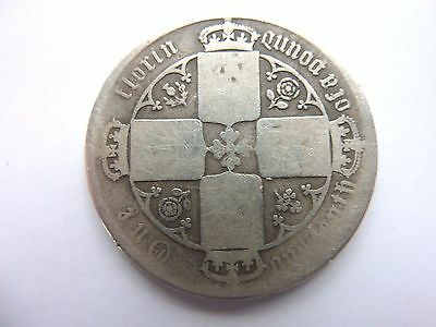 Great Britain VICTORIA Old Silver TWO SHILLING Florin Coin 1848 / 1887 ?