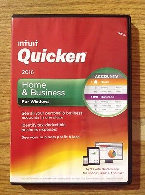 Open Box Quicken Home & Business 2016 Personal Finance & Budgeting Software