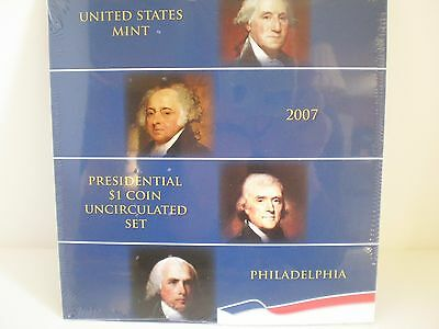 Rare 2007- P  Presidential $1. Uncirculated 4 Coin Set. Mint Sealed