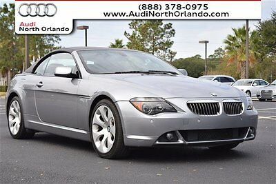 2006 BMW 6-Series Convertible 2-Door 2006 BMW 650i Convertible V8 New Top service records Very Nice *We trade*