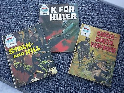 Three War Picture Library Comics (Bo) Collectable-Vintage