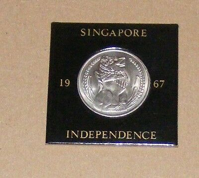1967 Singapore Independence One Dollar Coin In Excellant Condition