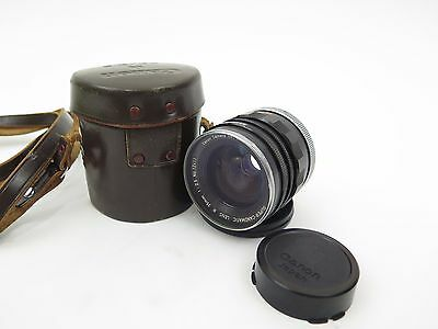 Vintage Super-Canomatic LENS R 35mm 1:2.5 with Case and both Caps