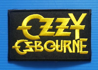 OZZY OSBOURNE Iron Embroidered Sewn On Iron On  Patch Free Ship