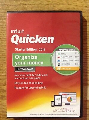 Open Box Intuit Quicken 2015 Starter Edition Software for Windows