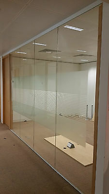 5.09 Metre Wide Glass Office Partition System With 4 Panels, Door & Frames £510