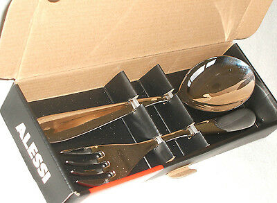 Alessi Nuovo Milano 2 Piece Serving Set Salad Fork And Spoon