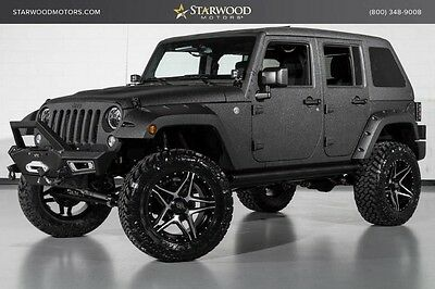 2016 Jeep Wrangler  2016 Jeep Wrangler Unlimited Lifted Custom Black Leather