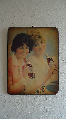 Coca Cola - Two Flappers 1912 - Holz  Schild - Werbung / advertisment sign