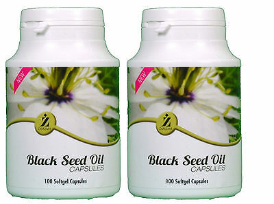 100%Halal100 Black Seed Oil Capsules By ZamZam Natural Health Benefits pack of 2