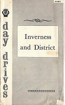 AA Automobile Association Day Drives  Inverness and District 1963 July