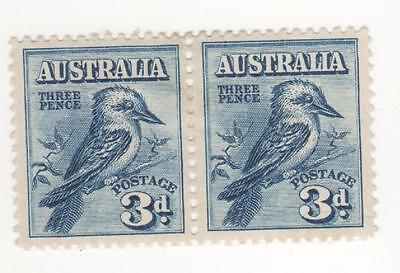 Australia 1928 3d Blue Kookaburra postage stamps in a  JOINED PAIR  mint  MH