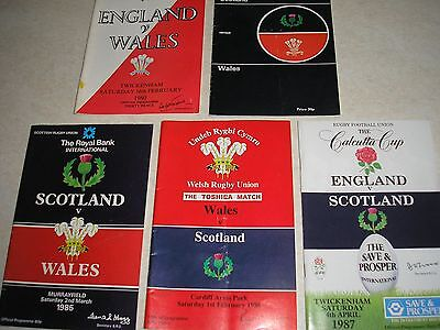 Rugby Union Five Nation Programmes